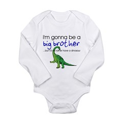 Gonna be big brother (dinosaur) Kids Long Sleeve Infant Bodysuit