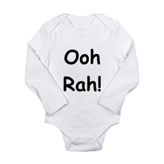 Ooh Rah Black Long Sleeve Infant Bodysuit