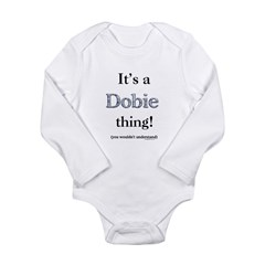 Dobie Thing Long Sleeve Infant Bodysuit