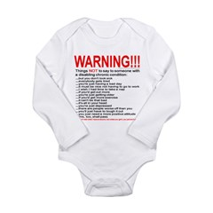 Chronic Condition Warning Long Sleeve Infant Bodysuit