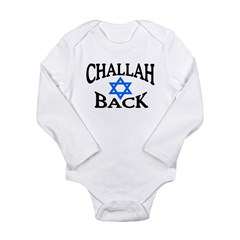 CHALLAH BACK T-SHIRT SHIRT JE Long Sleeve Infant Bodysuit