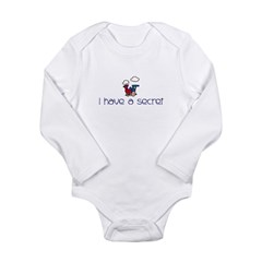 Train- I have a secret- big b Kids Long Sleeve Infant Bodysuit