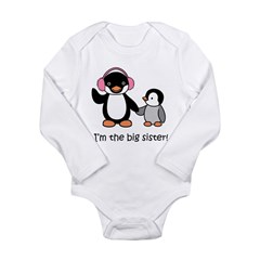 Big Sister - Penguin Long Sleeve Infant Bodysuit