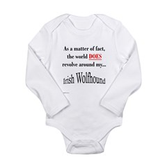 Wolfhound World Long Sleeve Infant Bodysuit