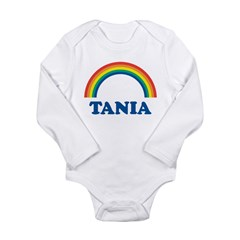 TANIA (rainbow) Long Sleeve Infant Bodysuit