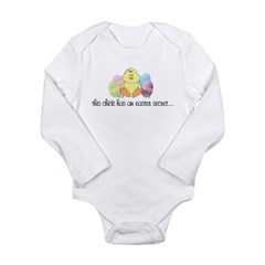 big sister easter Kids Long Sleeve Infant Bodysuit