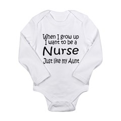 WIGU Nurse Aunt Long Sleeve Infant Bodysuit