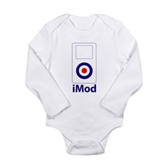 imod_white Long Sleeve Infant Bodysuit