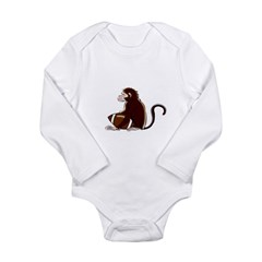 Football Monkey Long Sleeve Infant Bodysuit