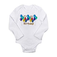 It's My Birthday Long Sleeve Infant Bodysuit
