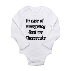 Feed me Cheesecake Long Sleeve Infant Bodysuit