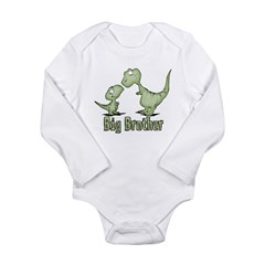 Dinosaurs Big Brother Long Sleeve Infant Bodysuit