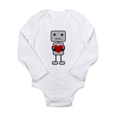 Broken Heart Robot Long Sleeve Infant Bodysuit