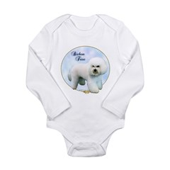 Bichon Portrait Long Sleeve Infant Bodysuit