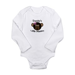 Daddy's GIRL Little Monkey Long Sleeve Infant Bodysuit