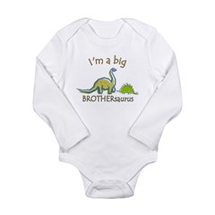 I'm a Big Brother Dinosaur Long Sleeve Infant Bodysuit