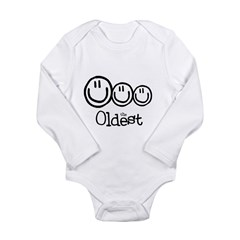 The Oldest (3) Long Sleeve Infant Bodysuit