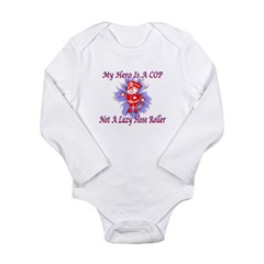 My COP Hero Long Sleeve Infant Bodysuit