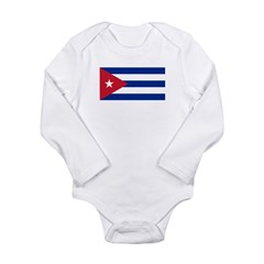 Cuba Flag Long Sleeve Infant Bodysuit