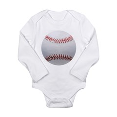 Baseball Long Sleeve Infant Bodysuit
