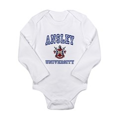 ANSLEY University Long Sleeve Infant Bodysuit