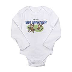 Big Brother (Monkey) Long Sleeve Infant Bodysuit