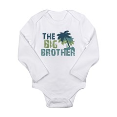 big brother palm tree Long Sleeve Infant Bodysuit