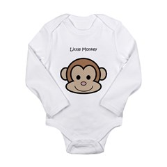 Little Monkey Long Sleeve Infant Bodysuit