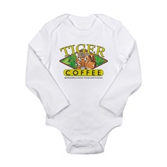 Tiger Brand Coffee Long Sleeve Infant Bodysuit