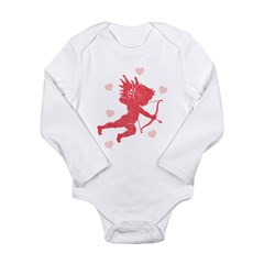 Vintage Cupid Long Sleeve Infant Bodysuit