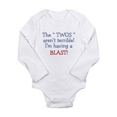 3-Terrible Twos.PNG Long Sleeve Infant Bodysuit