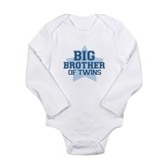 Big Brother of Twins - Long Sleeve Infant Bodysuit