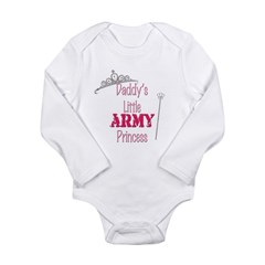 Army Princess Long Sleeve Infant Bodysuit