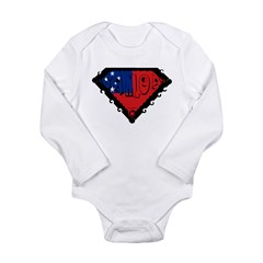 Samoa Flag Long Sleeve Infant Bodysuit