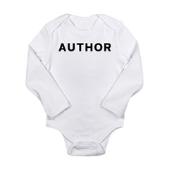 Author Long Sleeve Infant Bodysuit