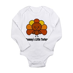 Mommy's Litttle Turkey Long Sleeve Infant Bodysuit