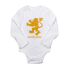 Scottish Lion by Russ Fagle Long Sleeve Infant Bodysuit