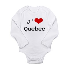 J' [heart] Quebec Long Sleeve Infant Bodysuit