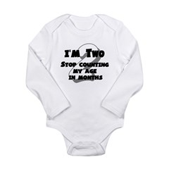 I'm Two Long Sleeve Infant Bodysuit