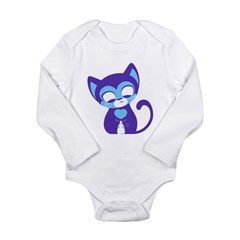 Cute Kitten Long Sleeve Infant Bodysuit