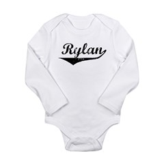 Rylan Vintage (Black) Long Sleeve Infant Bodysuit