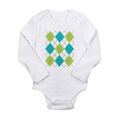 Argyle T-shirt Long Sleeve Infant Bodysuit