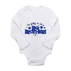 I'm Going to Be a Big Brother Long Sleeve Infant Bodysuit