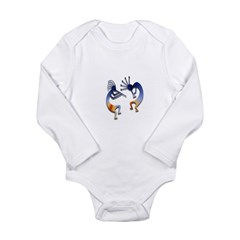 Two Kokopelli #68 Long Sleeve Infant Bodysuit