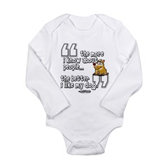 My Dog... Long Sleeve Infant Bodysuit