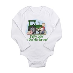 farmlivin_B2 Long Sleeve Infant Bodysuit