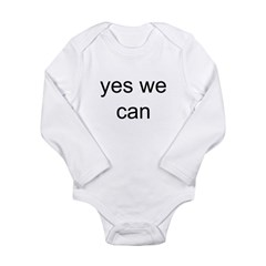 obama yes we can Long Sleeve Infant Bodysuit