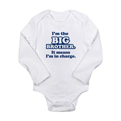 Big Brother in Charge Long Sleeve Infant Bodysuit