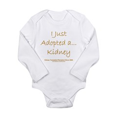 2008 Recipient Adopted Kidney Long Sleeve Infant Bodysuit