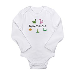 Ryleeosaurus Long Sleeve Infant Bodysuit